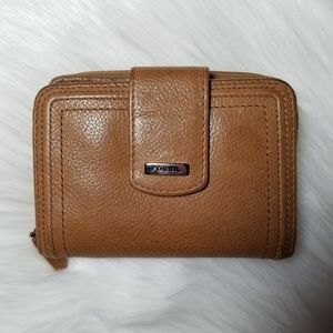 SALE! Fossil Tan Genuine Leather Wallet